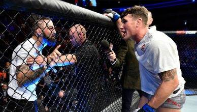 """UFC fighters """"Platinum"""" Mike Perry and Darren Till."""
