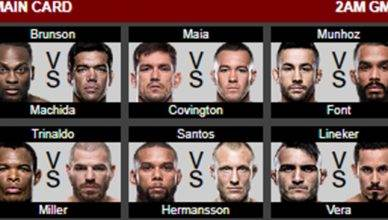 This weekend's UFC fight card is stacked from top to bottom featuring former UFC light heavyweight champion Lyoto Machida taking on Derek Brunson.