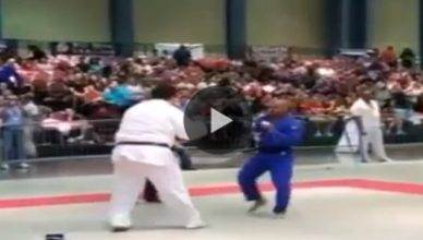 UFC middleweight contender Hector Lombard takes on a massive 7 foot giant in a Judo match.