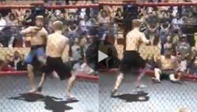 A regional scene fighter got is leg snapped with a low kick.