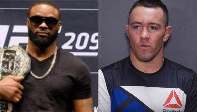 Tyron Woodley and Colby Covington.