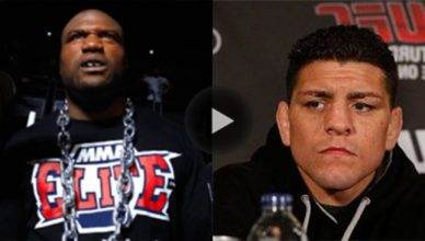 "Quinton ""Rampage"" Jackson and Nick Diaz."