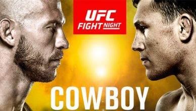 "UFC Officials release the Donald ""Cowboy"" Cerrone vs. Darren Till fight poster."