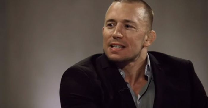 Former UFC middleweight champion Georges St. Pierre is super confident he'll beat UFC middleweight champion Michael Bisping.