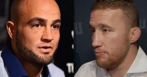 Eddie Alvarez and Justin Gaethje at UFC 218.