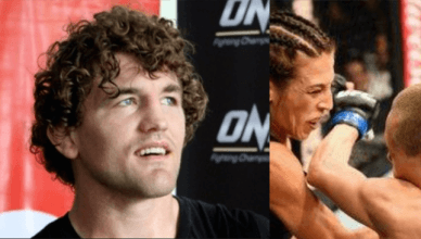 Ben Askren calls Joanna Jedrzejczyk for saying she's still champion.