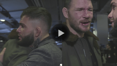 After all the banter and trash talk, former UFC bantamweight champion Cody Garbrandt and former middleweight champ Michael Bisping share a touching moment.
