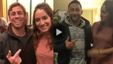 UFC bantamweight contender John Dodson helped his wife go around pranking UFC fighters during the UFC Fight Night 120 event from Norfolk, Virginia.