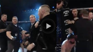 Conor McGregor at a Bellator event in Dublin.