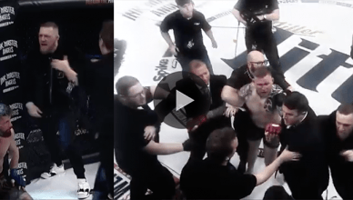 Conor McGregor causing chaos at Bellator in Dublin.