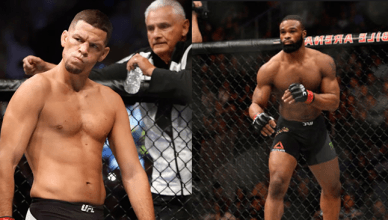 Nate Diaz and Tyron Woodley.