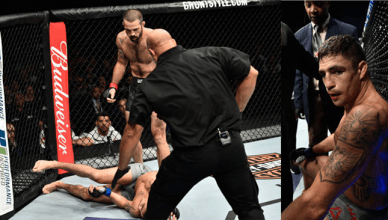Diego Sanchez gets brutally KO'd by Matt Brown.