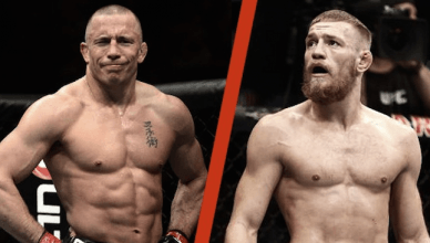 Georges St. Pierre and Conor McGregor.