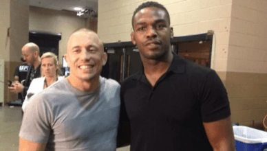 Georges St. Pierre and Jon Jones.