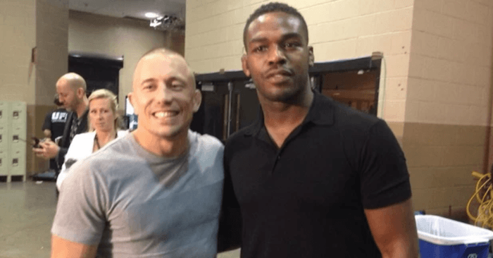 Georges St-Pierre and Jon Jones.