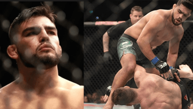 Kelvin Gastelum finishing Michael Bisping.