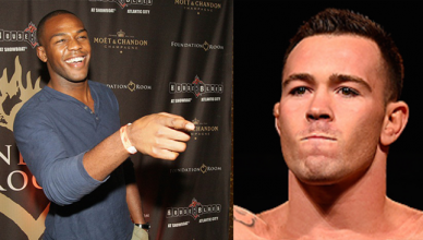 Jon Jones and Colby Covington.