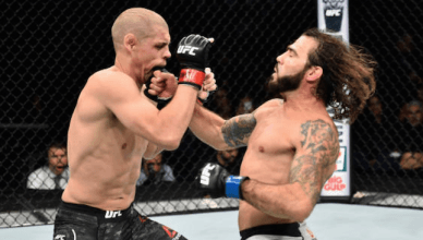 Clay Guida finishes Joe Lauzon at UFC Fight Night 120.