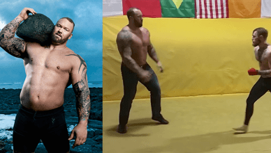 """Conor McGregor sparring """"The Mountain"""" from Game of Thrones"""