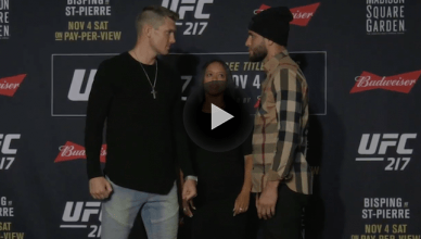 UFC 217 staredowns.