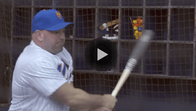 UFC President Dana White has gone insanely viral for his lack of batting skills when he visited the New York Mets in Queens, New York.