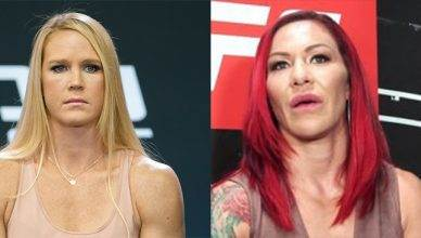Holly Holm and Cris Cyborg.