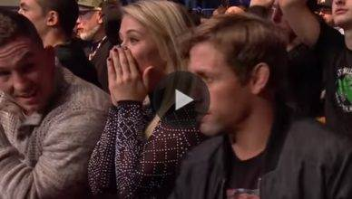 Check out UFC star Paige VanZant react to all the wild finishes during the incredible UFC 217 card from Madison Square Garden in New York City.