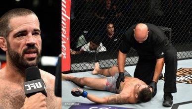 Matt Brown brutal elbow KO over Diego Sanchez at UFC Fight Night 120.