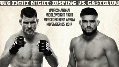 Michael Bisping vs. Kelvin Gastelum at UFC Fight Night 122.