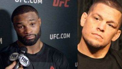 Tyron Woodley and Nate Diaz.