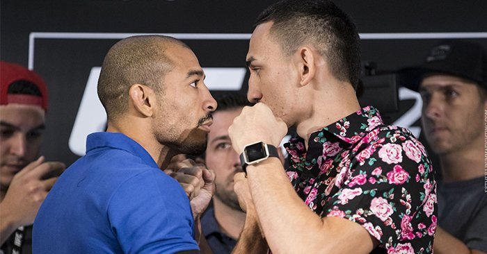 Jose Aldo and Max Holloway square off.