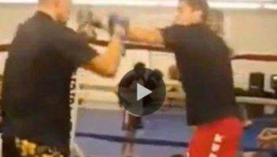 Nick Diaz and Nate Diaz sparring.