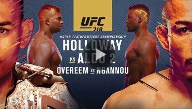 Max Holloway vs. Jose Aldo 2 at UFC 218.