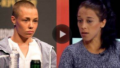 Rose Namajunas and Joanna Jedrzejczyk.
