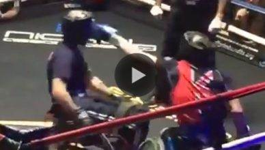 Two amateur boxers in wheelchairs leave it all in the ring.