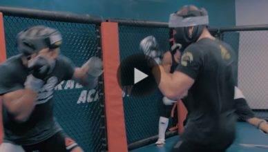 Eddie Alvarez training for Justin Gaethje at UFC 218.