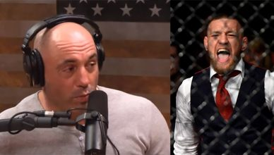 Joe Rogan and Conor McGregor.