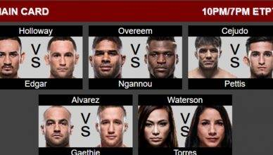 UFC 218 from Detroit in December is stacked from top to bottom with UFC featherweight champ Max Holloway defending against Frankie Edgar in the main event.