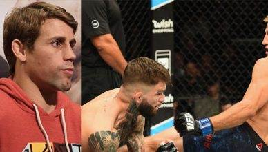 Team Alpha Male founder Urijah Faber reacts to Cody Garbrandt losing the bantamweight title to their former friend and teammate T.J. DIllashaw at UFC 217.