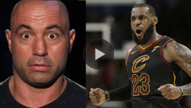 Joe Rogan and NBA star Lebron James.