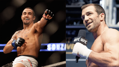 Robert Whittaker and Luke Rockhold at UFC 221.