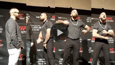 """""""Platinum"""" Mike Perry and Santiago Ponzinibbio at UFC on Fox 26."""