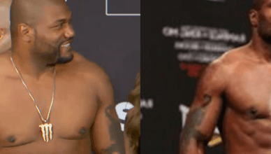 Rampage Jackson from light heavyweight to heavyweight fighter.