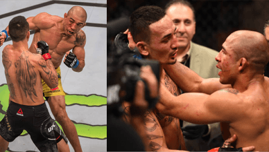 Max Holloway takes out Jose Aldo for the second time at UFC 218.
