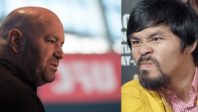 Dana White and Manny Pacquiao.