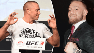Georges St-Pierre and Conor McGregor.
