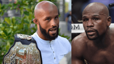 Demetrious Johnson and Floyd Mayweather