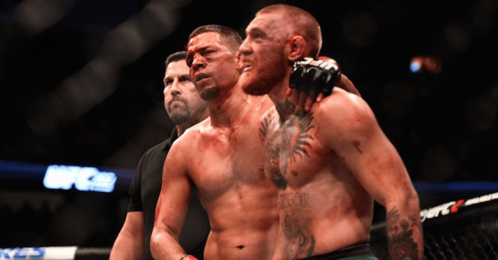 Nate Diaz and Conor McGregor all respect after their war.