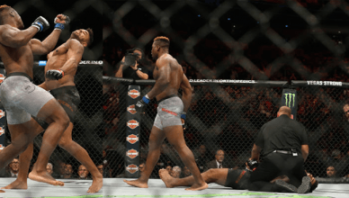 Alistair Overeem brutally KO'd by Francis Ngannou at UFC 218.