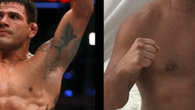 Raael dos Anjos before and after USADA.